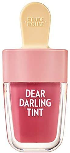 ETUDE HOUSE Dear Darling Water Gel Tint Ice Cream (PK004 Red Bean Red) | Vivid High-Color Lip Tint with Minerals and Vitamins from Soap Berry Extract to Moisture Your Lips