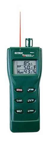 Extech-RH401-Triple-Display-Hygro-Thermometer-Psychrometer-with-Built-In-Infrared-Thermometer