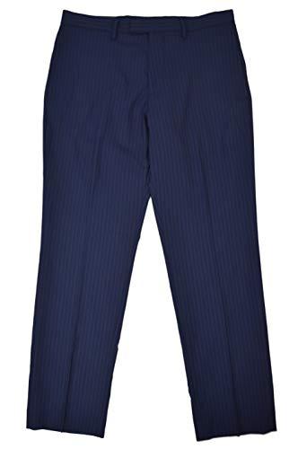 Banana Republic Men's Wool Blend Standard Fit Dress Pants Navy Blue Pinstriped 33W x 34L