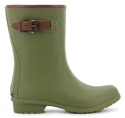 Chooka Women's Mid-Height Memory Foam Rain Boot, Olive, 9 M US