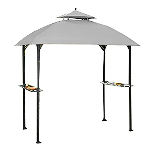 Garden Winds Replacement Canopy Top Cover for Windsor Grill Gazebo - RipLock 350 - Slate Gray