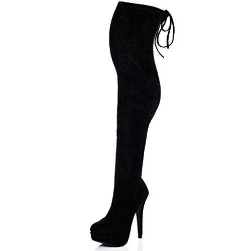 57ffdf33d01 best SPYLOVEBUY CLOSER Women s Platform High Heel Stiletto Over Knee Tall  Boots