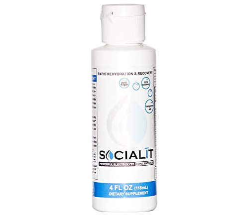 Socialit Powerful Electrolyte Concentrate – Hangover Recovery Aid – Rapid Rehydration Liquid Dietary Supplement with Zero Sugar, Calories and Additives – Non GMO, Gluten Free, Vegan Energizing Drink ()