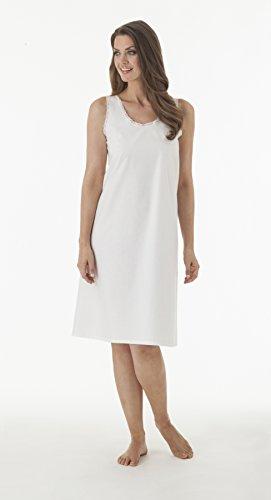 Velrose Cotton Full Slips White Style 801 (Cotton Slip Full Slip)