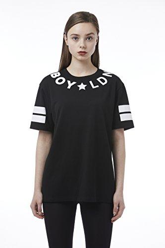 BOY London Unisex (S,M,L,XL) 18SS LDN T-Shirt - Black,White New_(BH2TS113) (Black, XLarge) by BOY London