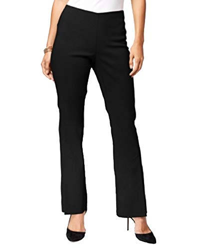 INC International Concepts Curvy Pull-On Bootcut Pants (Deep Black, 16)