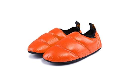 Chaussons De Camping Chauds Unisexe Kingcamp Avec Semelle En Caoutchouc Antidérapante Et Sac De Transport (consultez Le Tableau Des Tailles Dans La Description Pour Connaître La Taille) Orange