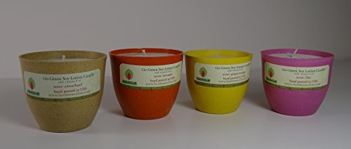 - Soy Lotion Candle; Pack of 4 Candles