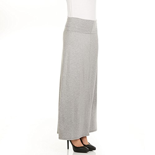 X America Foldover Long Maxi Skirt Junior and Plus Size Maxi Skirts for Women, Made in USA