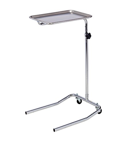 (Clinton Single Post Stainless Steel Mayo Instrument Stand)