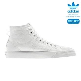 hot sale online aab73 6ce97 NEW ADIDAS NIZZA HI CLASSIC 78 WHITE (8) Amazon.co.uk Shoes
