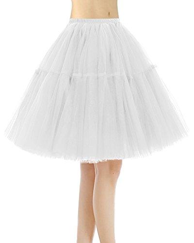 Bridesmay Vintage Gonna Sottogonna Donna Tutu Breve Avorio Sottoveste HrxqvHn