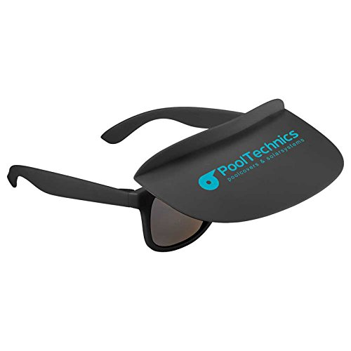 Multi-Colored Miami Visor Sunglasses by iPromo - 150 Quantity – $2.21 each - (Promotional Product/Custom Branded with your specific Logo) - Custom Logo Sunglasses