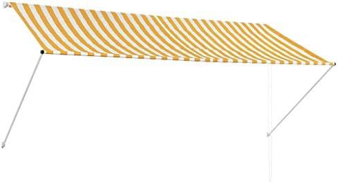ghuanton Toldo retráctil 300x150 cm Amarillo y blancoCasa y jardín Jardín Artículos de Exterior Toldos: Amazon.es: Hogar