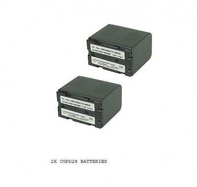 2X Batteries for CGR-D54, CGP-D28 CGP-D28A CGP-D28A/1B, Panasonic CGR-D28, Panasonic CGR-D28S, Panasonic CGR-D320, Panasonic CGR-D20A