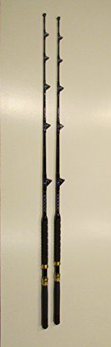 Xcaliber Marine Pair of 2 Tournament Series 6 30-80 lb Saltwater TROLLING RODS