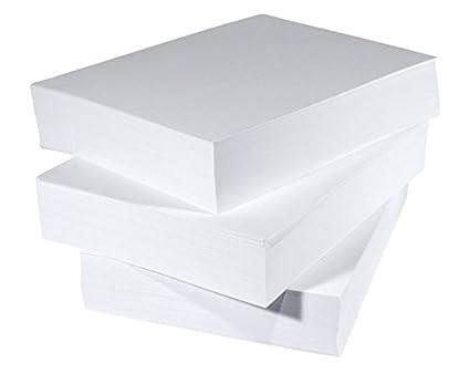 Diario A5 blanco impresora copiadora papel 80 gsm (500 hojas (1 resma)