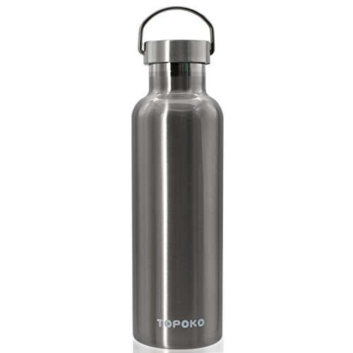 Sealed Metal (Top Quality Non-Rusty Stainless Steel Vacuum Water Bottle Double Wall Insulated Thermos for hike Travel,Leak Proof BPA free Sports Bottle,Keep Hot or Cold More Than 12H-Metal Lid-25)