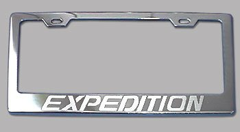 Expedition Frame - Ford Expedition Chrome License Plate Frame