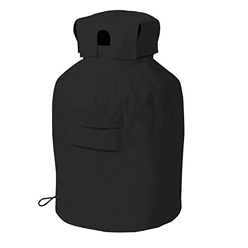 - Linkool Upgrade 20 lbs Propane Tank Cover,Black,Hides Often Ugly/Rusty/Dirty Tank Cylinder,All Weather Protection