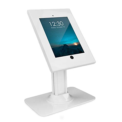 Mount-It! Anti-Theft Tablet Kiosk for iPad | Contact-Less iPad POS Stand | Rotating iPad Kiosk Mount | Locking iPad Tilt Stand for iPad 9.7 (MI-3771)