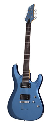 Schecter 431 C-6 Deluxe Solid-Body Electric Guitar, Satin Metallic Light Blue (Body Guitar Blues)
