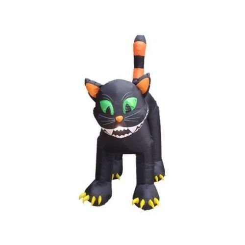 Durable The Holiday Aisle Halloween Inflatable Animated Huge Black Cat Decoration, 11' D from The Holiday Aisle