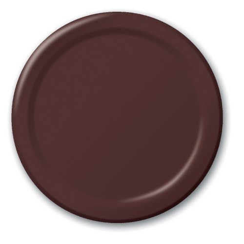 (Creative Converting Touch of Color 24 Count Paper Banquet Plates, Chocolate Brown)