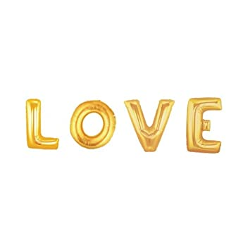 balloonshop 40 love supershape foil letter balloons in gold