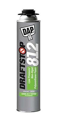 Dap 80812 12 Pack 26 oz. Draftstop 812 Low Pressure Polyurethane Foam Sealant, White by DAP