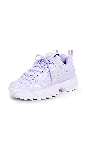 Fila Women's Disruptor II Premium Patent Sneakers, Pastel Lilac/Pastel Lilac, Purple, 9 M US