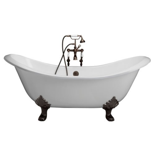 Barclay Products Cast Iron Double Slipper Tub
