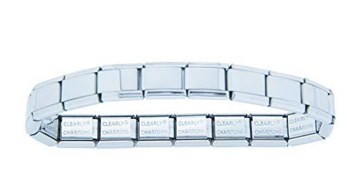 Clearly Charming Shiny Starter Italian Charm Bracelet (Italian Charm Bracelet)
