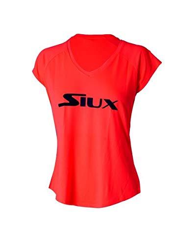 Siux Camiseta Special Mujer Coral Logo Negro: Amazon.es: Deportes ...