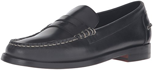 [Sebago Men's Legacy Penny Loafer, Black Leather, 11 D] (Dress Loafer Beef Roll)