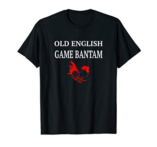Old English Game Bantam red rooster poultry breeder T-Shirt