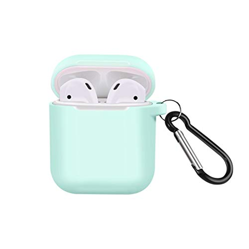 NANTE Accessories 3PCS Cover Case for Airpods Compatiable with 2/1 Shock Proof Protective Soft Silicone Protect Covers Skin (Blue)