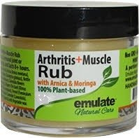 Moringa Oil & Muscle Rub with Arnica & MSM emulate Natural Care 1 oz Jar