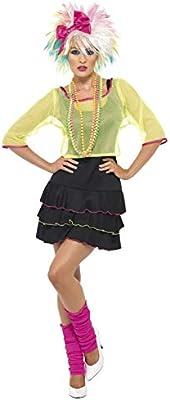 Smiffys Disfraz de fulana pop de los 80, con top, vestido y banda ...
