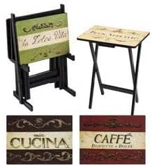 Cape Craftsman Cucina Tv Trays With Stand Set Of 4 Furniture Decor
