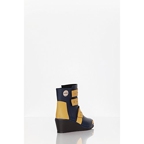 strap Wedge Stivali By Footwear sw130 Scuro Gomma Blu Arancio Di Julia Lundsten originals Nokian 1R04Wwq6R