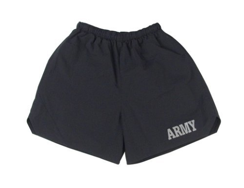 Rothco P/T Army Shorts, Black, 2X