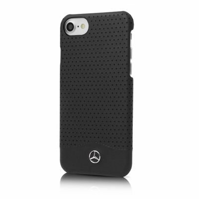 iphone-7-case-mercedes-benz-impact-resistant-wave-ii-genuine-leather-perforated-hard-case-black-mehc