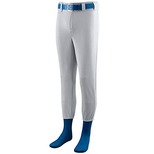 Augusta Sportswear Men's Baseball Pant S Silver Grey ()