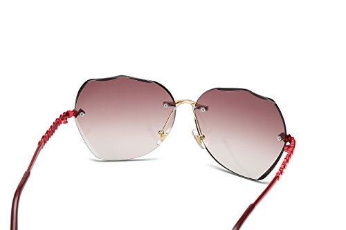 VOLCHIEN solares Lens diamante gafas mujer sin Tawny Arm Red borde Para 7rFr5Oxq8