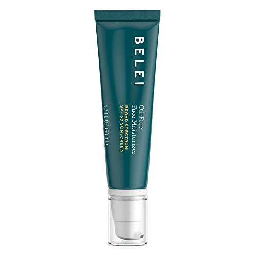 Belei Oil-Free SPF 50 Moisturizing Sunscreen, UVA/UVB Protection, Fragrance Free, Paraben Free, 1.7 Fluid Ounce (50 mL) from Belei