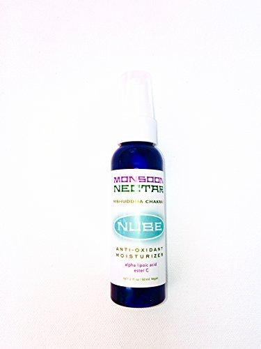 Monsoon Nectar NUBE Chakra Aroma Antiox Moisturizer 2 oz. Travel Size with Ester C & Alpha Lipoic Acid