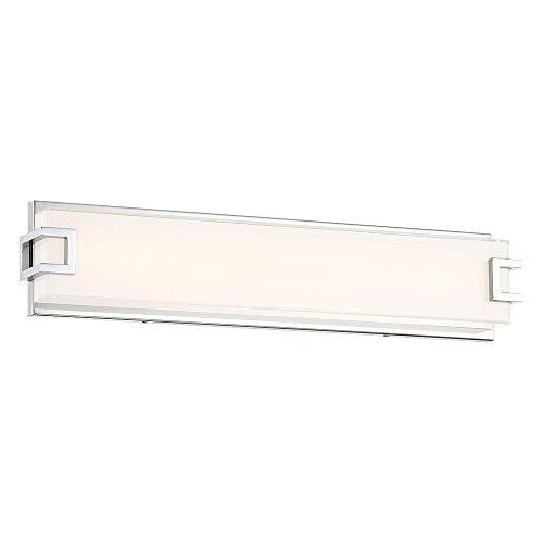 - Madison Avenue 22702 100-Watt Equivalence Chrome Integrated LED Bath Light