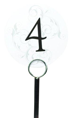 Hortense B. Hewitt Wedding Accessories Round Filigree Table Number Cards