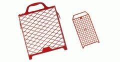 Kunststoff Farbroller Abstreifgitter rot 27x29cm - Farbrollen Abstreichgitter